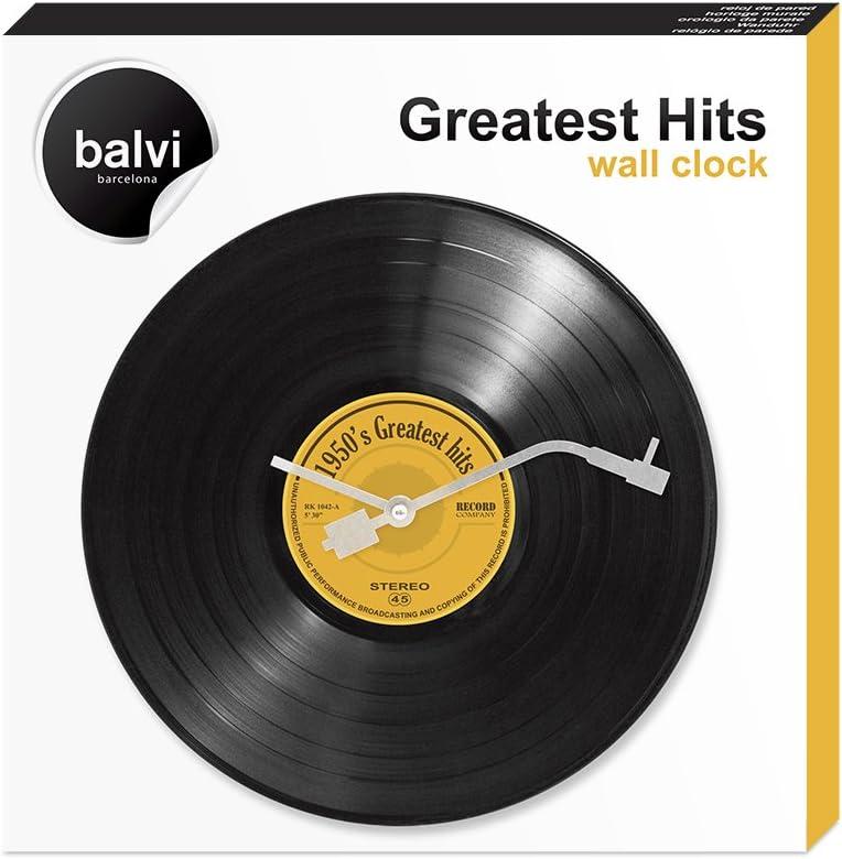 Balvi Reloj de Pared Greatest Hits! Imita un Disco Musical de ...