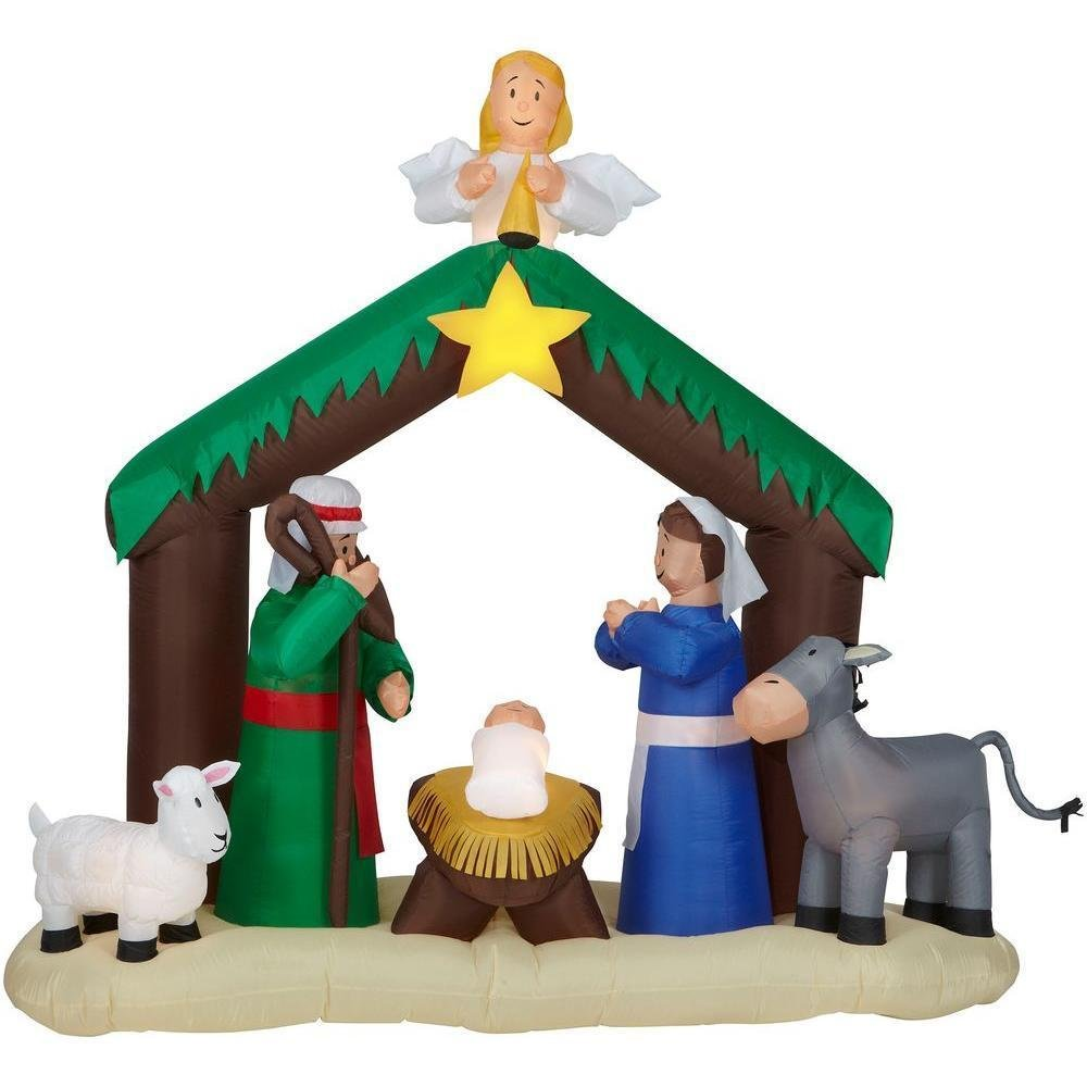 NEW 6 ft Airblown Inflatable Nativity Scene Outdoor Christmas Holiday Decoration