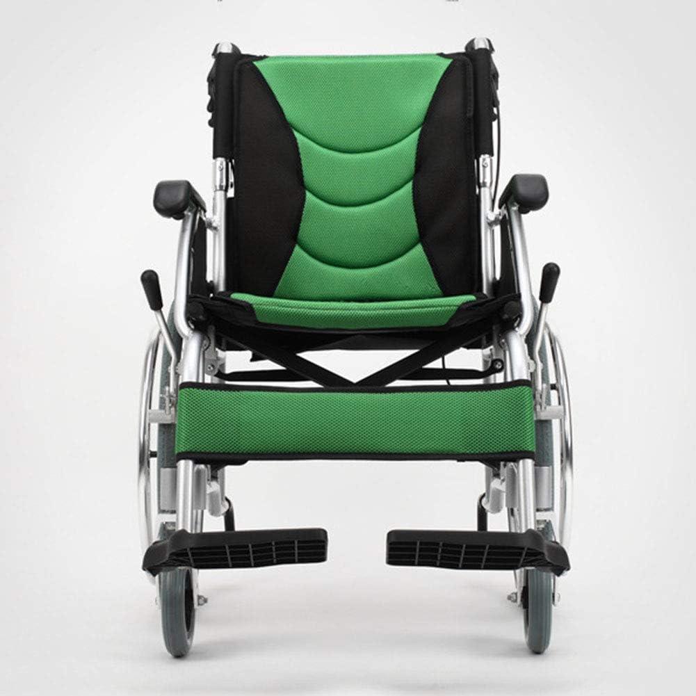 WLG Ligero Plegable Silla de Ruedas Conducir Médico, Anciano Silla de Ruedas Silla de Ruedas Discapacitados Aleación