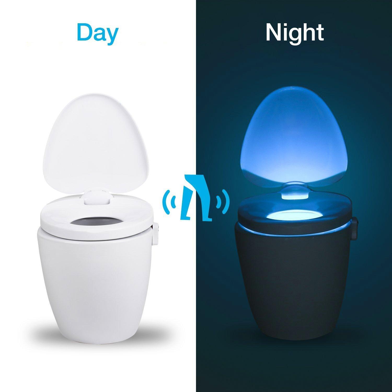 Toilet Led Motion Sensor Wc Nachtlicht Wc Licht Mit 8 Farben
