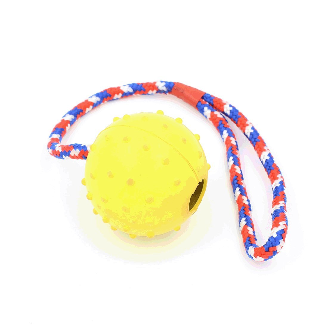Rubber Dog Ball Launcher with Rope Training Dog and Chew Toy, Random Color