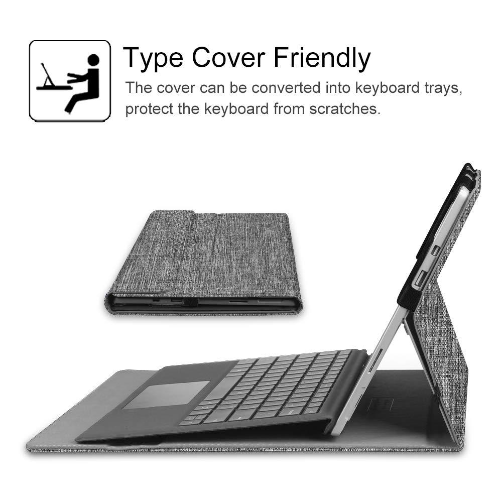 2018 Azul Oscuro Teclado No Incluido 2019 Fintie Funda para Microsoft Surface Pro 7 M/últiples /Ángulos Carcasa Funci/ón de Soporte Compatible con Teclado Type Cover //Pro 5//Pro 4//Pro 3 //Pro 6