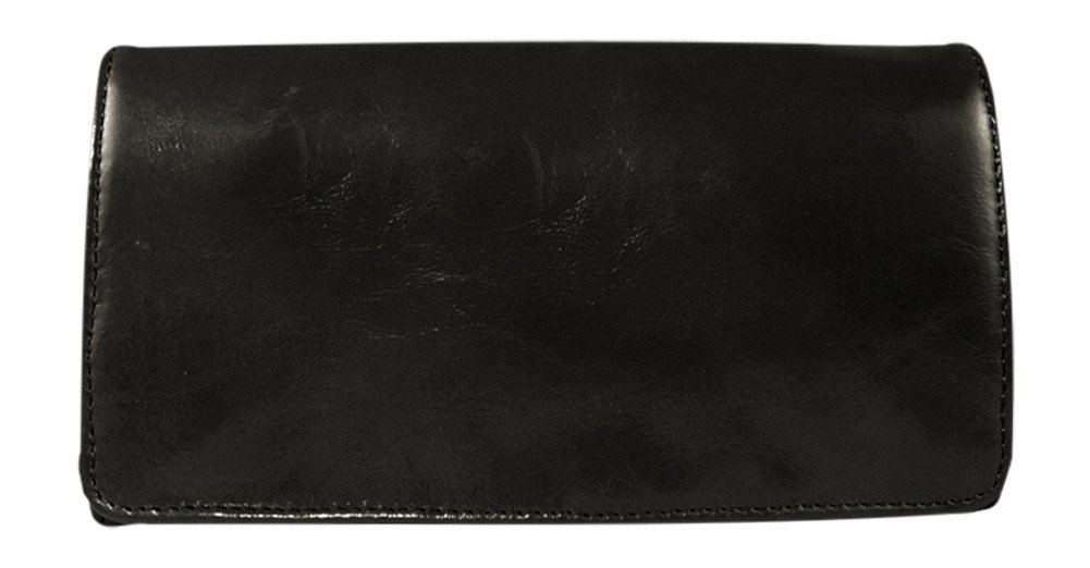 Latico Leathers Shelby Wallet, Authentic Luxury Leather, Designer Fashion, Top Quality Leather, Black, one size