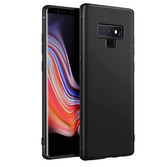 new style 27b19 2a667 EasyAcc Slim Case for Samsung Galaxy Note 9, Matte Black TPU Phone Cases  Finish Profile Soft Thin Flexible Back Protective Cover Compatible with ...