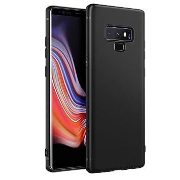 EasyAcc Funda para Samsung Galaxy Note 9 Suave TPU Case Protectora Trasera Mate Delgada Carcasa - Negro
