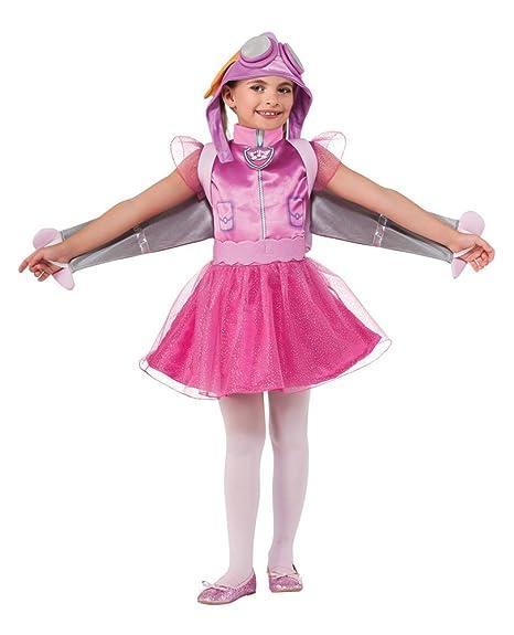 Amazon.com: Girls Halloween Costume- Skye Paw Patrol Kids Costume Small 4-6 Pink: Toys & Games