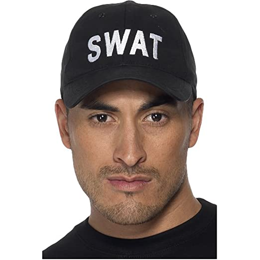 35db440bfc8 Amazon.com  Smiffys Adult Unisex Swat Baseball Cap