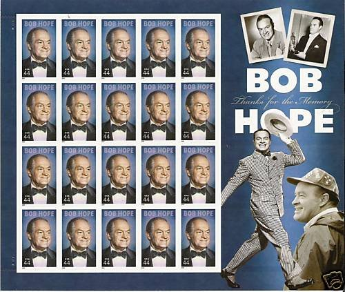 USPS Bob Hope Thanks for The Memory Mint Sheet of Twenty 44 Cent Stamps Scott 4406