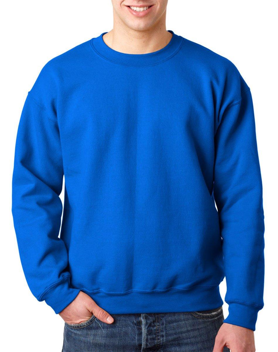 Small Royal Gildan Mens Comfort Double Needle Cuffs Sweatshirt