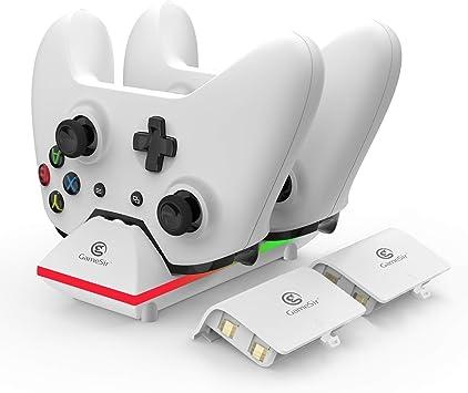 GameSir Estación de Carga de Dual Xbox One con 2 Baterías Recargables de 800mAh y Cable USB de 3,3 Pies para el Controlador Inalámbrico Xbox One/One S/One X/One Elite: Amazon.es: Electrónica