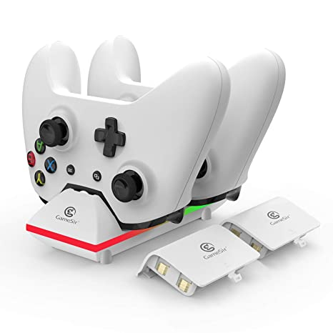 5f6489a4b1ba GameSir Xbox One Dual Charging Dock Charger Station with 2X 800mAh Rechargeable  Batteries and 3.3ft