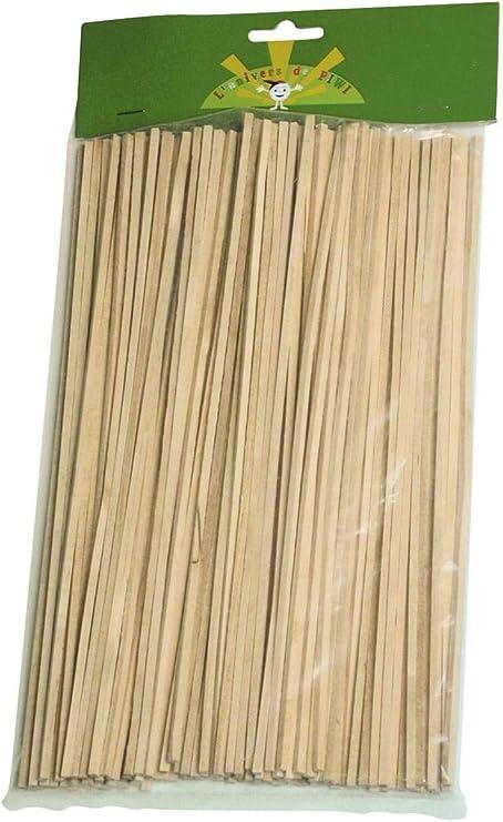 100 palitos de madera para algodón de azúcar: Amazon.es: Hogar