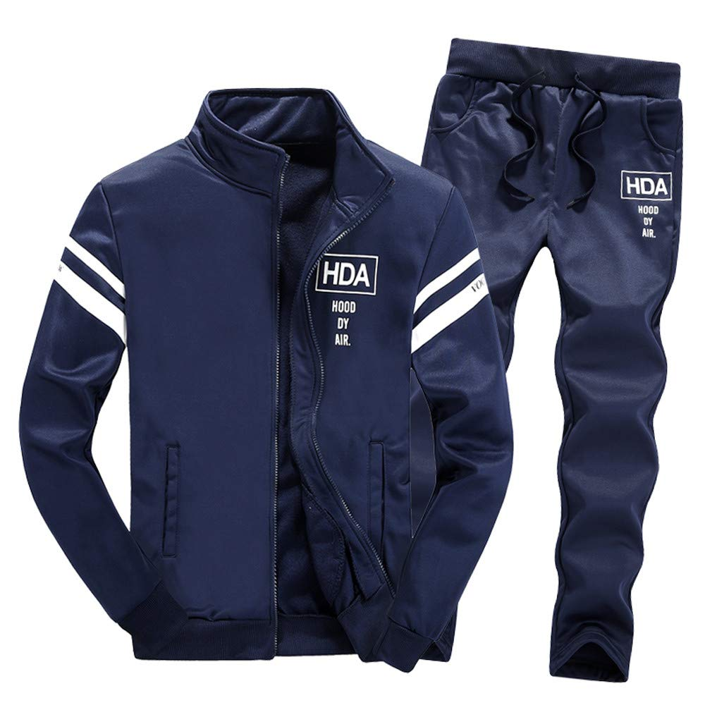 Tracksuit Sets, NRUTUP Mens Shirts Clearance Zipper Leisure Suit Tops Pants Jackets & Coats Clothing Hot NRUTUP-mens tops