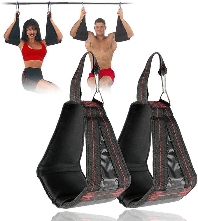 wonderfulwu Correas acolchadas para colgar, 1 par de correas de suspensión AB para colgar cinturones abdominales, entrenamiento de músculos ...