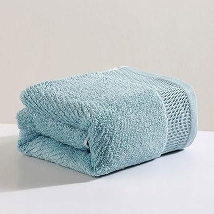 Wddwarmhome Toallas de baño de rayas azules Hotel Toallas de algodón absorbente Hombres y mujeres toallas