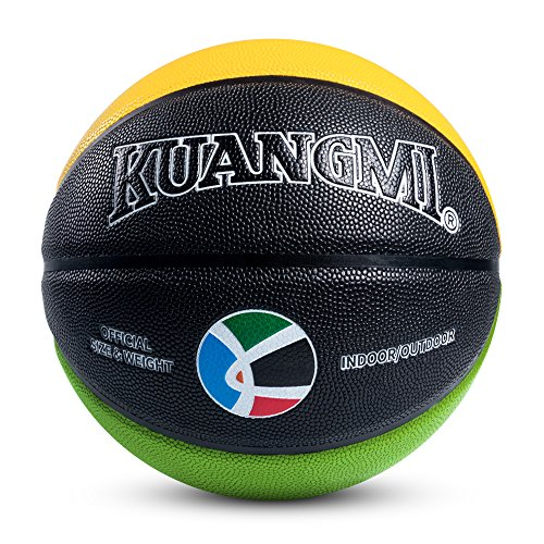 """Kuangmi Olympic Colors Basketball Size 3,4,5,6,7 for Baby Child Boys Girls Youth Men Women (Intermediate Size 6(28.5"""")) by Kuangmi (Image #2)"""