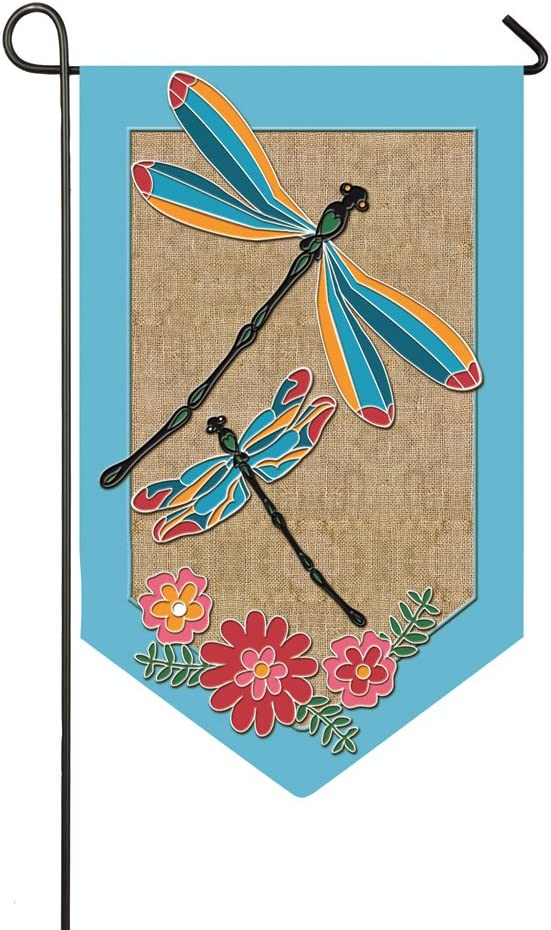 Evergreen Flag Blue Dragonflies Garden Burlap Flag - 12.5 x 18 Inches Outdoor Decor for Homes and Gardens