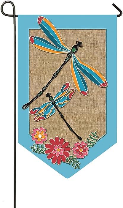 Evergreen Flag Blue Dragonflies Garden Burlap Flag - 12.5 x 18 Inches Outdoor Decor for Homes and Gardens