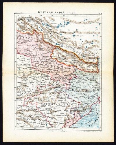 Amazon antique map british raj north india bengal nepal jacob antique map british raj north india bengal nepal jacob kuyper gumiabroncs Gallery