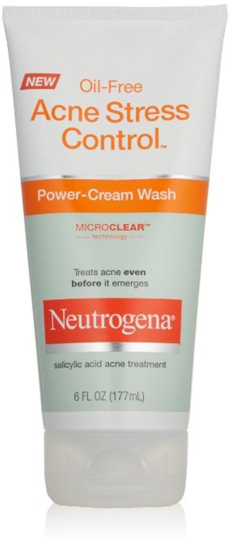 Neutrogena Acne Stress Control Oil-Free Power-Cream Wash, 6 oz by Neutrogena (Pack of 2) J&J CONSUMER INC
