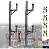NIXFACE Enclosed Trailer Ladder Rack mounts to The Exterior Side Wall