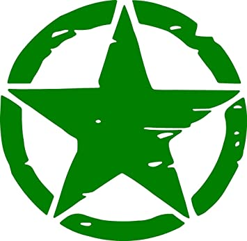 Onlinemart pack of 2 green star sticker decal sticker for royal enfield bullet bike sticker 11 5 cm x 11 5 cm amazon in car motorbike