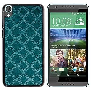 Be Good Phone Accessory // Dura Cáscara cubierta Protectora Caso Carcasa Funda de Protección para HTC Desire 820 // Teal Church Christian Pattern Indian