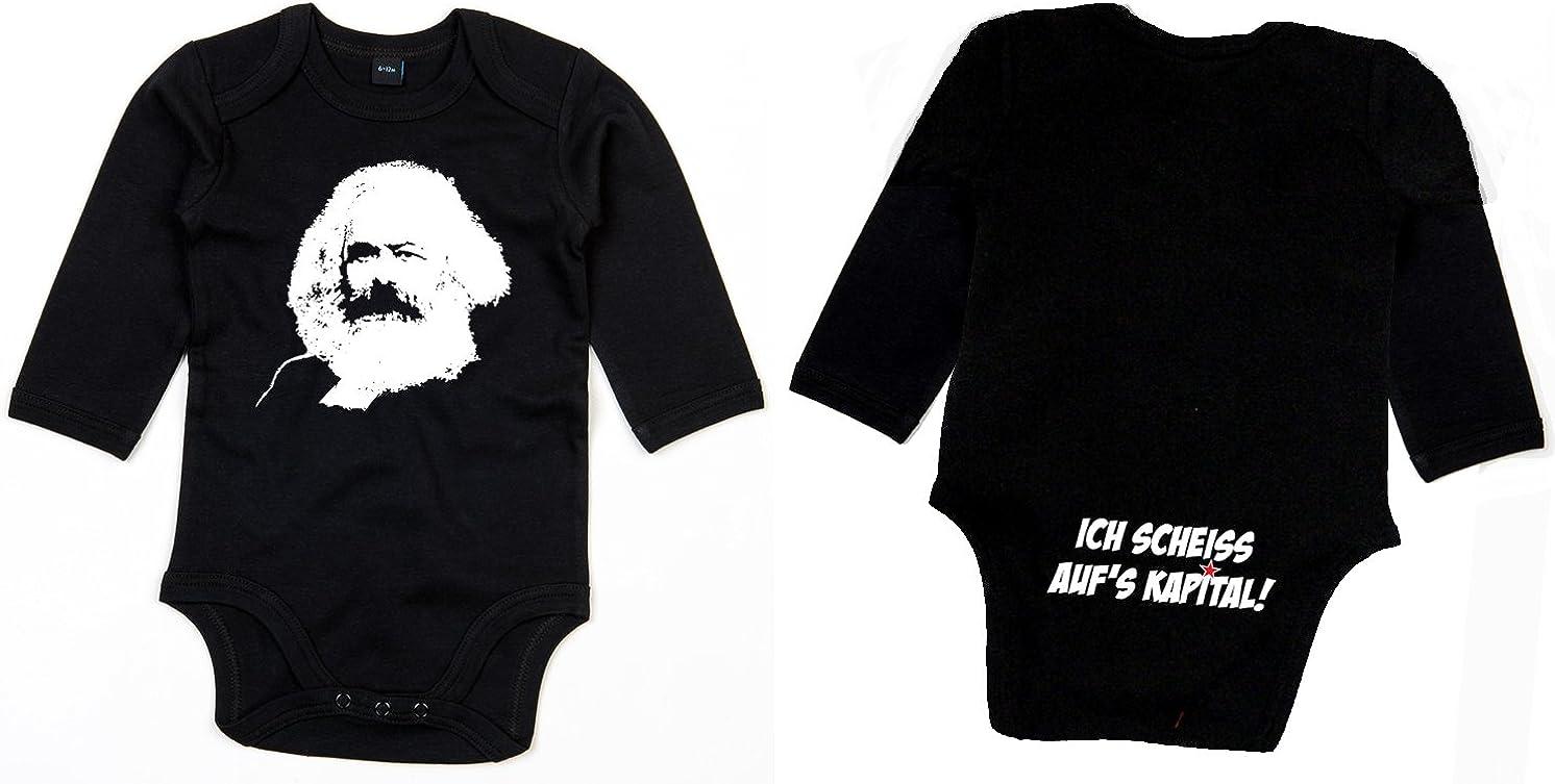 Racker-n-Roll Karl Marx Ich Scheiss sur le capital /à manches longues Body coton bio
