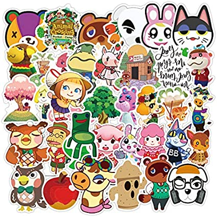 WWLL 100 Animal Crossing Friends Club Suitcase Stickers