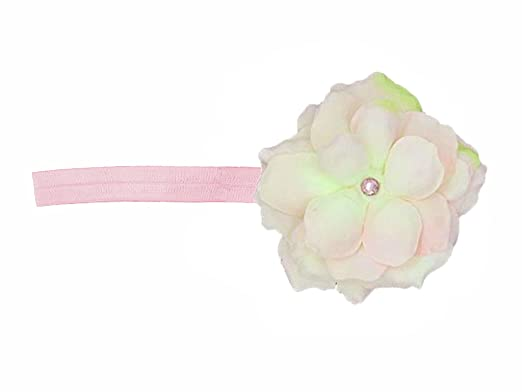 67290a9ff47 Jamie Rae Hats- Pale Pink Flowerette Burst Headband with Pale Pink Small  Rose