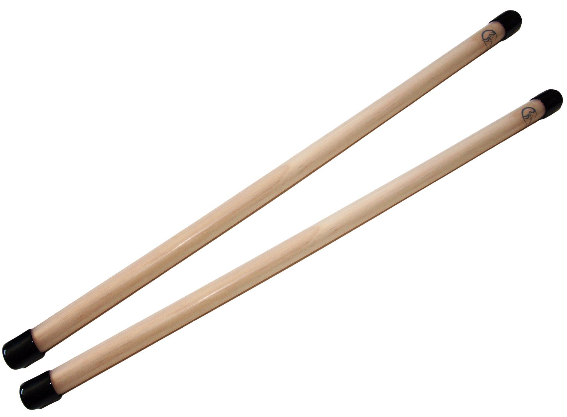 FLASH Pro Flower Stick Set (5 Colours) Silicone Coated Flowerstick & Handsticks! Suprime Quality, Fiberglass Shaft, Silicone Grip, Suede Tassels + Velcro Strap & Travel Bag! (UV Yellow) by Flames N Games Devil Sticks/Flower Sticks (Image #9)