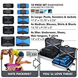 Pro Packing Cubes 10 Piece Lightweight Travel Cube