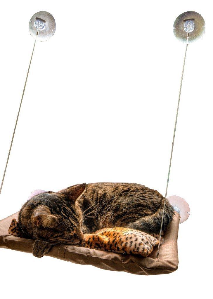 Chat Fenêtre Lit Ensoleillé Siège Chat Lit Matelas Chat Suspendu Hamac pour Mignon Animal Catty Dormant Jouer Reposant par HongYH HL