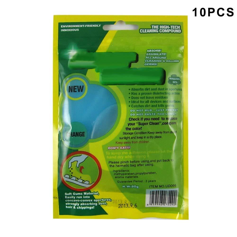 Felix-Box - 10Pcs Dust Cleaning Gel Magic Clean Gum Super Soft Sticky Cleaner for Keyboard Keypad Phone CSL88
