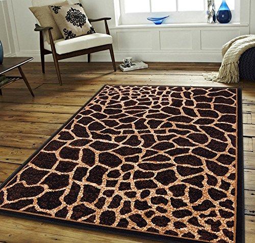 Modern Animal Print Giraffe Skin Area Rug (5' 3