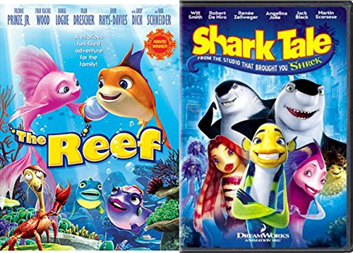 Shark Tale & The Reef DVD Animated Cartoon Movie Set
