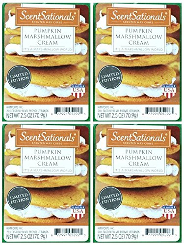 Pumpkin Marshmallow - ScentSationals Pumpkin Marshmallow Cream Wax Cubes - 4-Pack