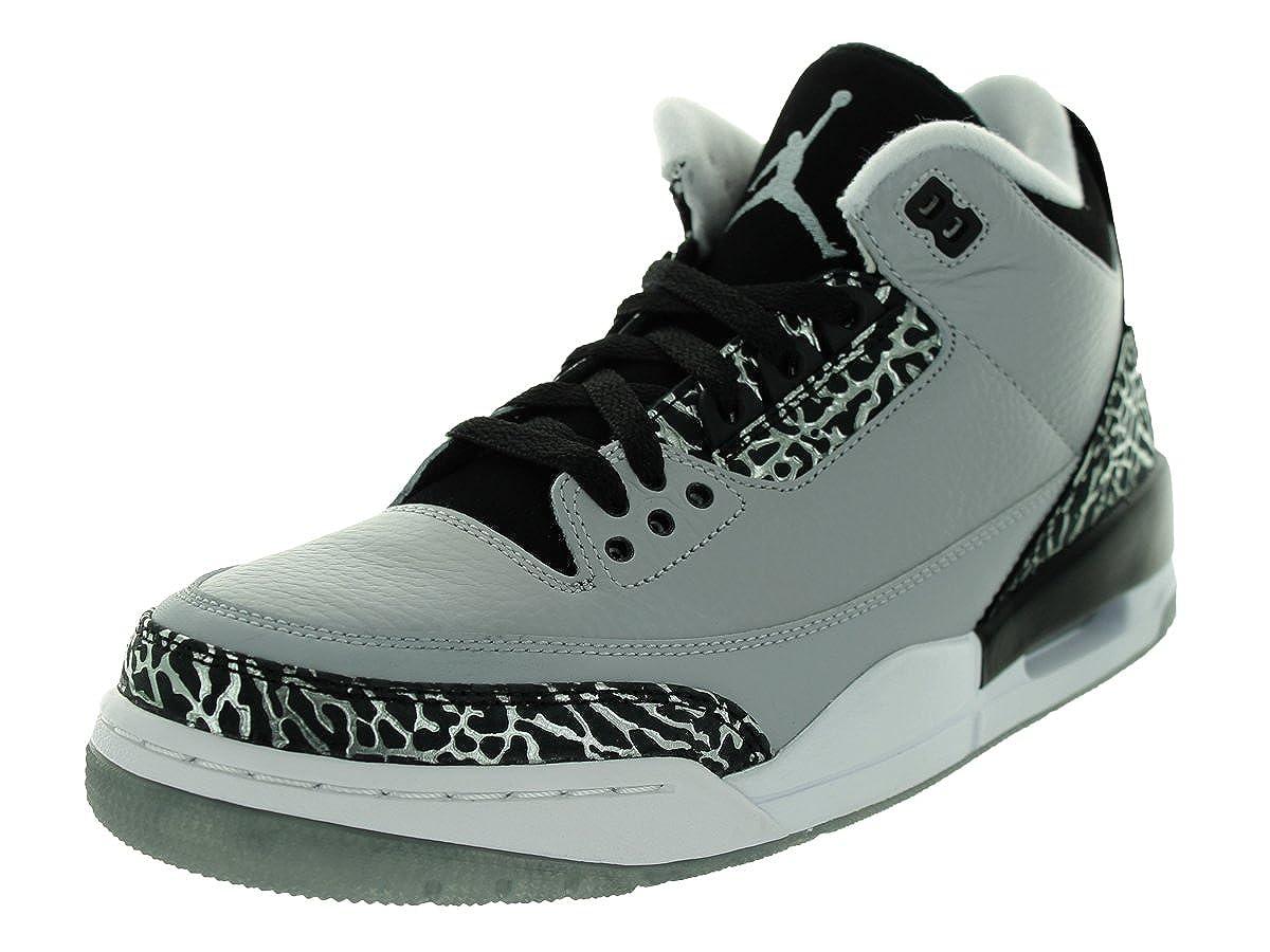 Wolf Grey Metallic Silver Black White Nike Men's Air Jordan 5 Retro Basketball shoes