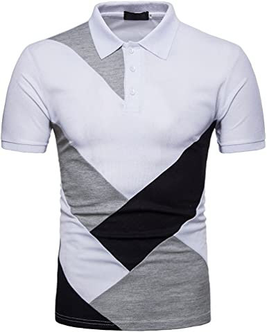 Fannyfuny camiseta Hombres Verano Camisa Polo con punta Camisa Polo para hombre manga corta Camiseta de Empalme Polo Piqué de manga corta Modelo Hombre Caballero Deporte: Amazon.es: Ropa y accesorios