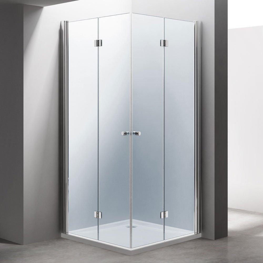 Durovin Bathrooms Frameless Bifold Shower Door | Buy 2 Doors to ...