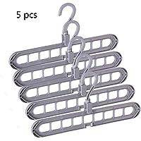 Aisoway Clips Calcetines Ropa Plegable Estante de la suspensi/ón Clothespin tendedero Armario ropero de Almacenamiento Organizador