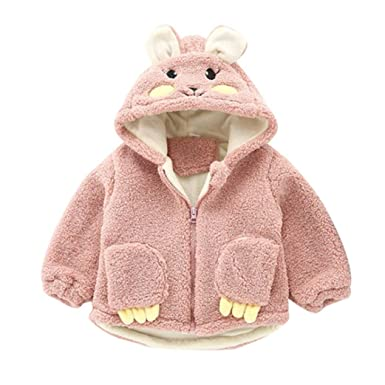 2dc3d094a88c Sixcup Rabbit Baby Infant Girls Autumn Winter Hooded Coat Cloak ...