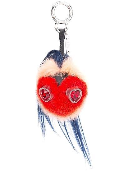 0e4f83876739 Fendi Women s 7Ar466slvf07au-Mcf Red Leather Key Chain  Amazon.co.uk   Clothing