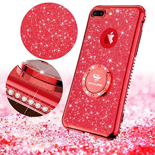 san francisco 40f03 8a541 iPhone 7 Plus Case, iPhone 8 Plus Case, Glitter Cute Phone - Import ...