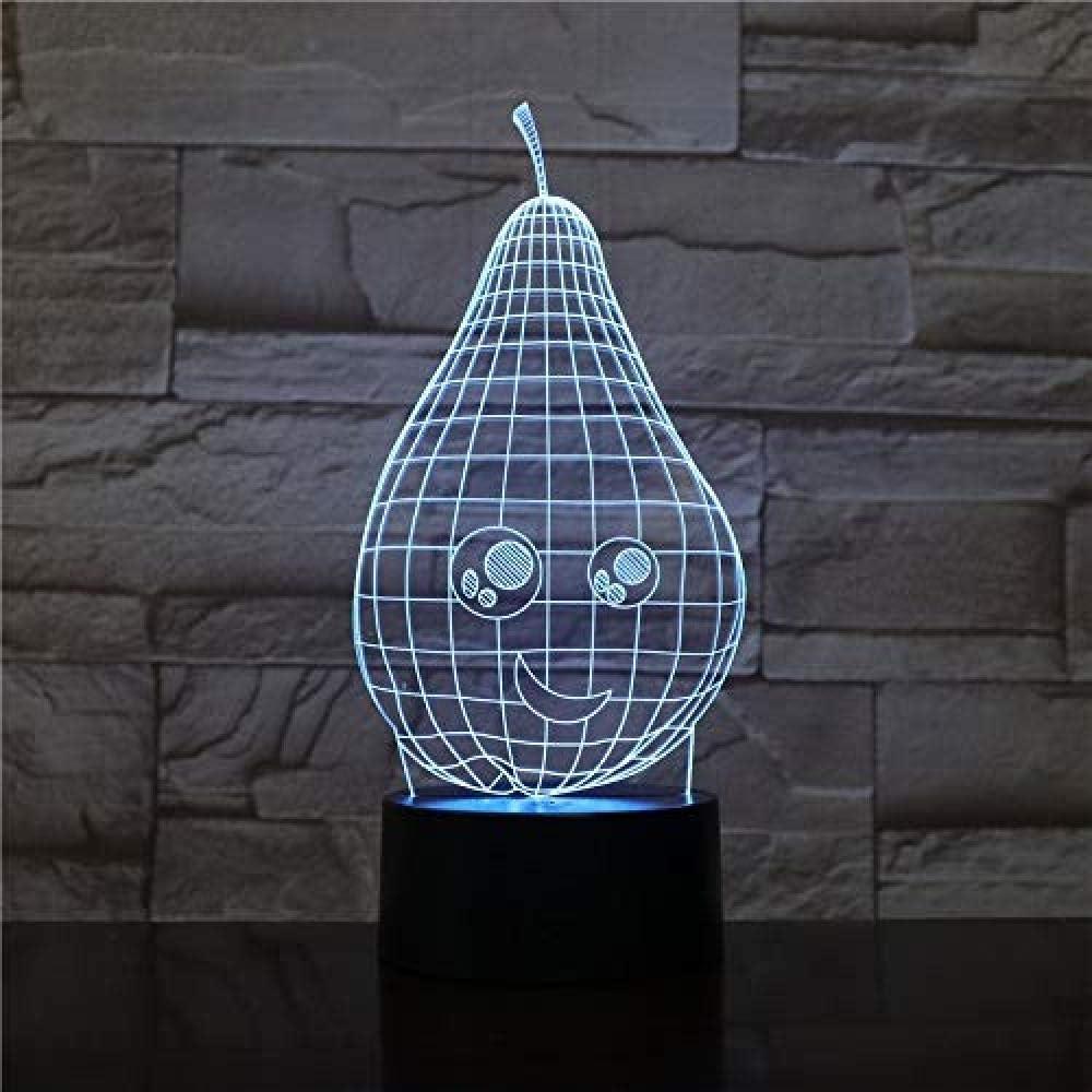 3D Illusion Night Light bluetooth smart Control 7&16M Color Mobile App Led Vision Dormitorio bombilla sensor de mesa novedad niño niños bebé gadget decoración de fruta mesa de noche Visu