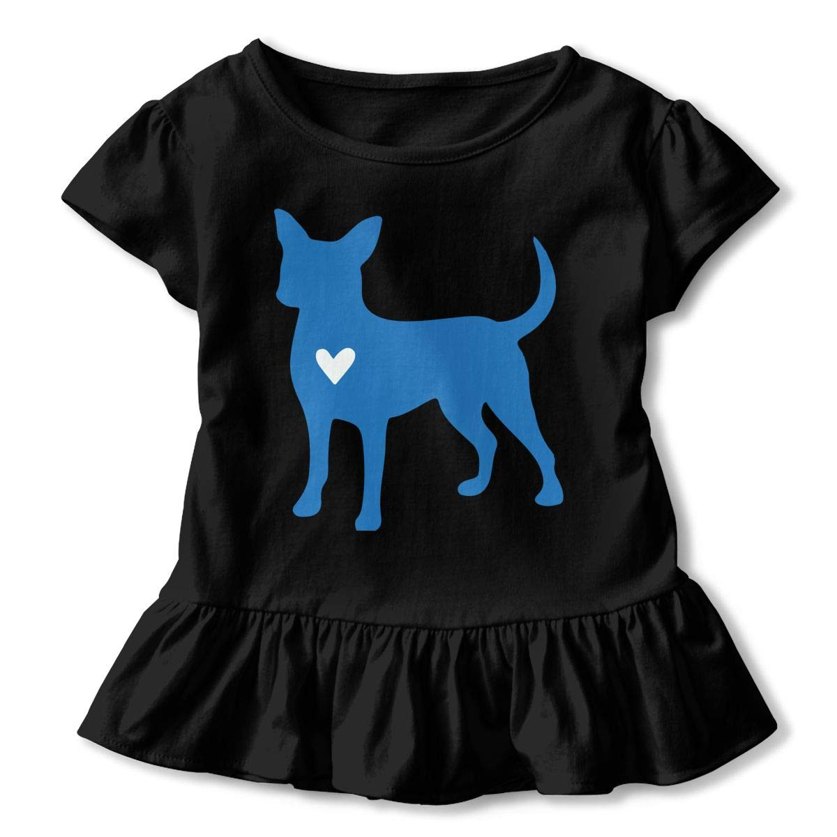 Toddler Baby Girl Chihuahua Clipart Silhouette Funny Short Sleeve Cotton T Shirts Basic Tops Tee Clothes