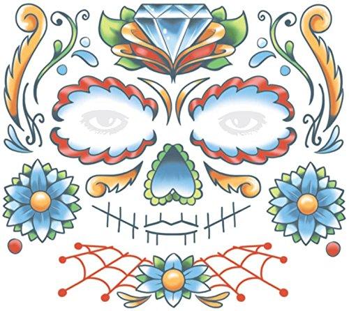 Tinsley Transfers  Candy Skull, Flesh/Multi, One Size ()