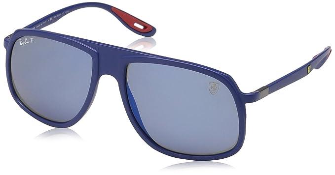 Ray-Ban 0RB4308M Gafas de sol, Matte Dark Blue, 40 para ...