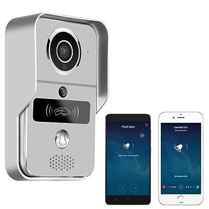 Smart Home 720 WiFi IP Video Door Phone Intercom Doorbell Wireless Unlock  Peephole Camera Doorbell Viewer