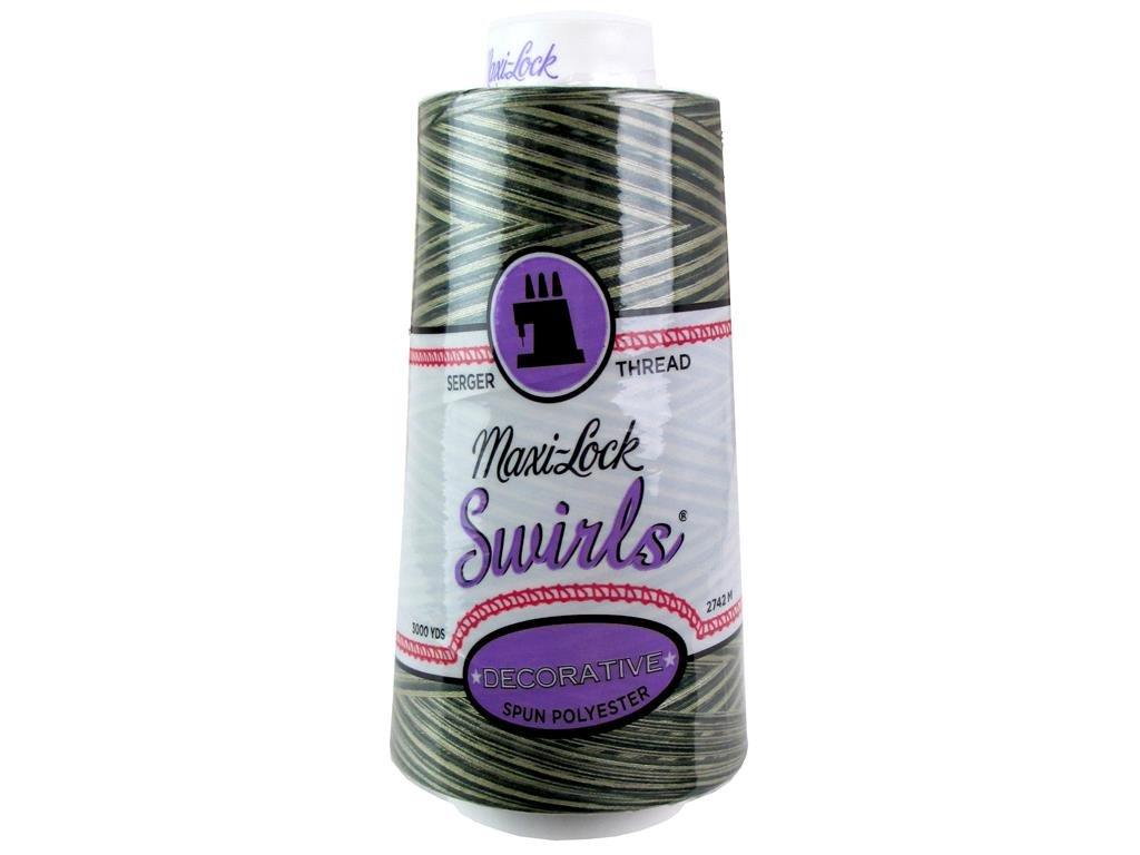 American /& Efird A/&E Maxi Lock Swirls Thread 3000yd Foresty Mint MLockSwrlThrd3000ForestyMint